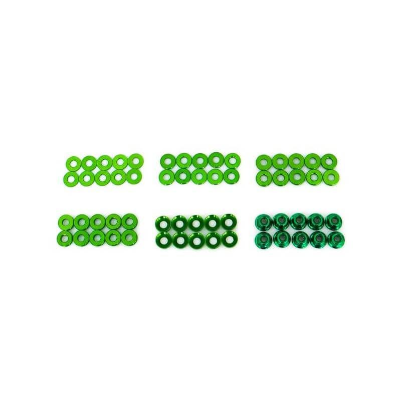 Hobbytech Set de rondelles et écrous en alu anodisé (60pcs)  HT-525010V