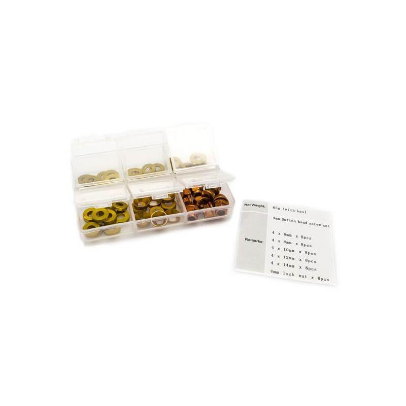 Hobbytech Set de rondelles et écrous en alu anodisé (60pcs)  HT-525010G