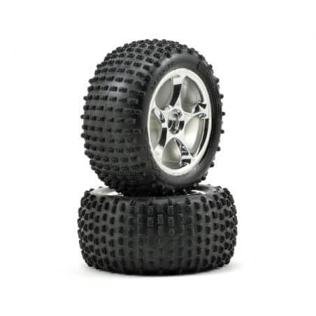 TRAXXAS roues arriere montees soft alias 2.2 pour bandit (2) TRX2470R