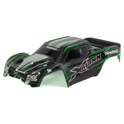 TRAXXAS carrosserie x-maxx verte peinte et decoree TRX7711G