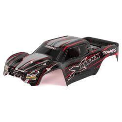 TRAXXAS carrosserie x-maxx rouge peinte et decoree TRX7711R