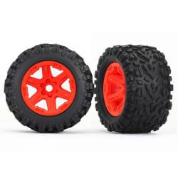 TRAXXAS roues montees collees oranges talon ext 17mm (2) TRX8672A