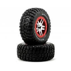 TRAXXAS roues montees collees bf goodrich pour 4x4 av/arr-4x2 arriere (2) TRX6873A