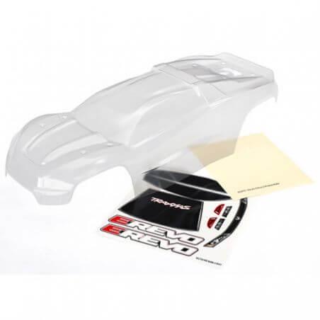 TRAXXAS carrosserie e-revo 2 transparente + autocollants TRX8611