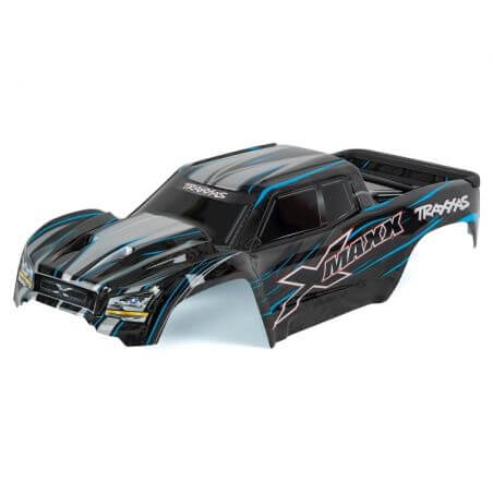 TRAXXAS carrosserie x-maxx bleu peinte et decoree TRX7711A