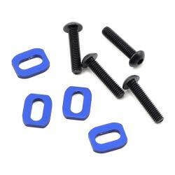 TRAXXAS rondelles support moteur alu anodisees bleu  (4) TRX7759