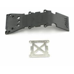 TRAXXAS plaque de protection plastique noire + plaque acier TRX4937