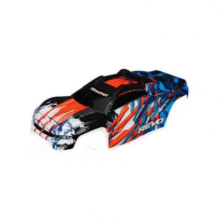 TRAXXAS carrosserie e-revo 2 peinte et decoree orange TRX8611A