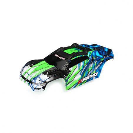 TRAXXAS carrosserie e-revo 2 peinte et decoree verte TRX8611G