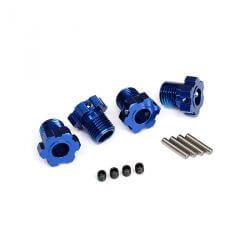 TRAXXAS hexagones de roues anodises bleu 17mm (4) TRX8654