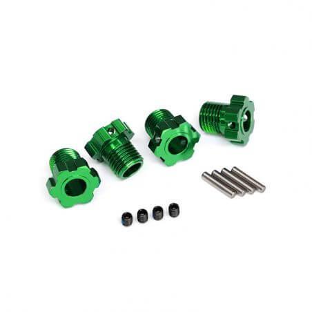 TRAXXAS hexagones de roues anodises vert 17mm (4) TRX8654G