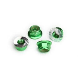 Traxxas Écroues Nylstop de roues Alu vert 8447G