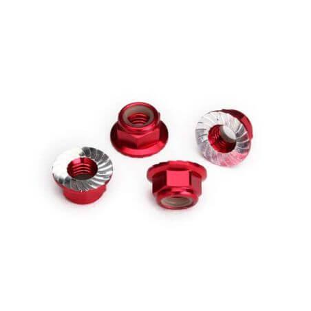 Traxxas Écroues Nylstop de roues Alu rouge 8447R