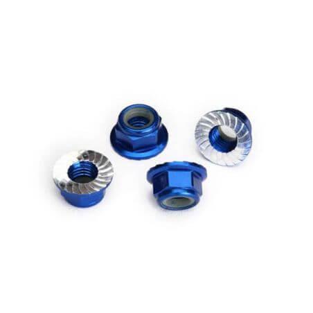 Traxxas Écroues Nylstop de roues Alu bleu 8447X