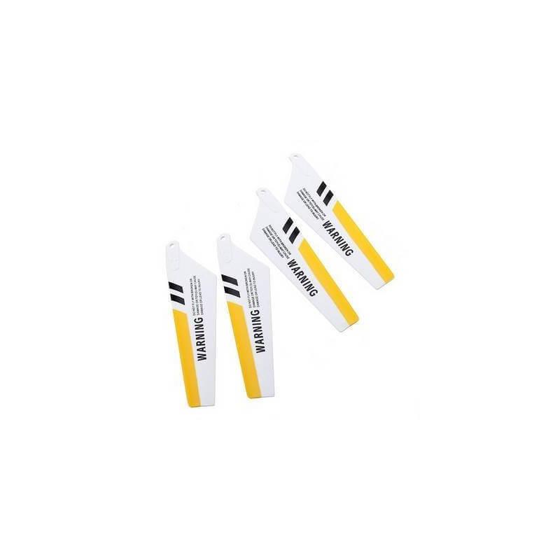 4 Pales jaune pour Hélicoptère Syma S107G