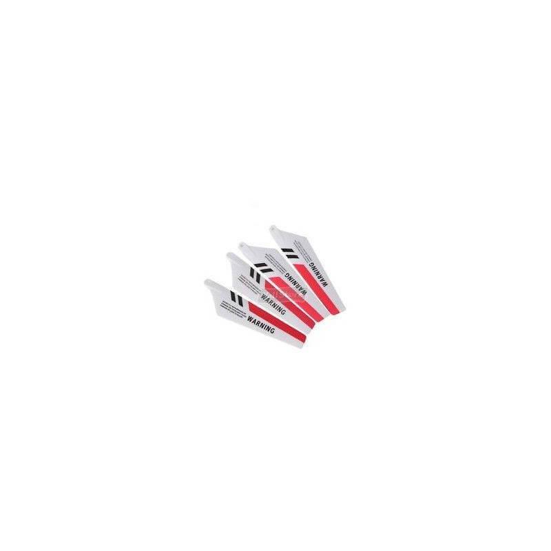 4 Pales rouge pour Hélicoptère Syma S107G