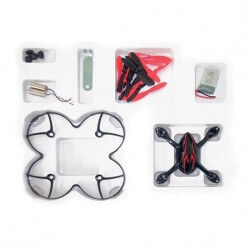 Crash kit Noir-Rouge Hubsan X4 H107C - HD avec Tee shirt