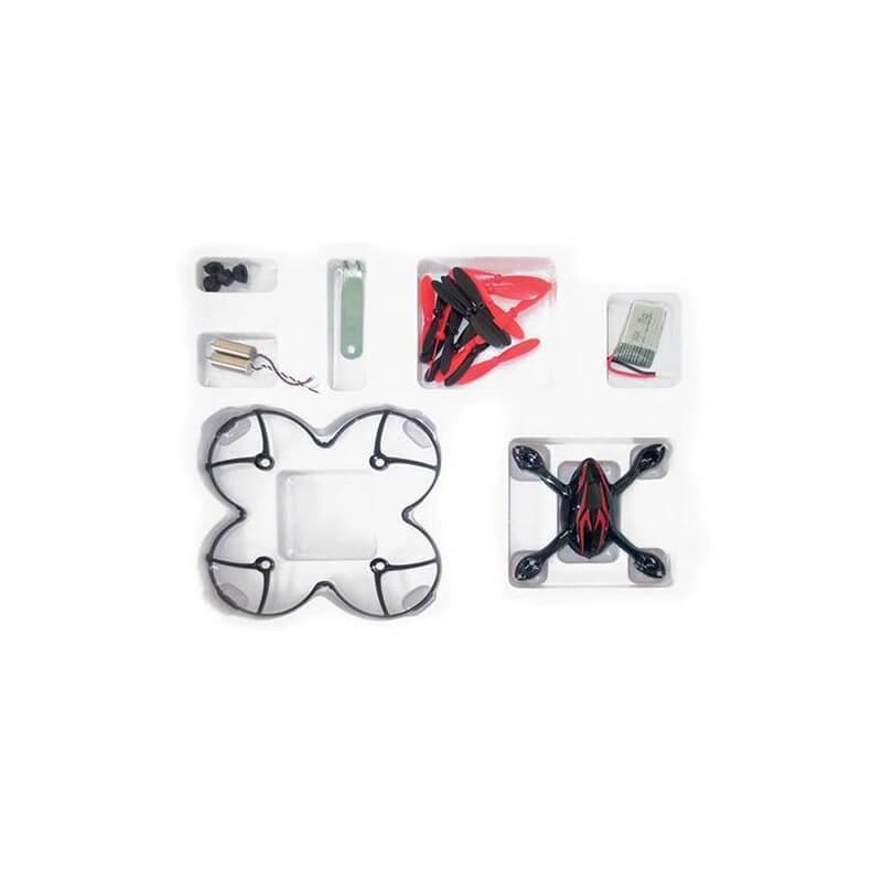 Crash kit Noir-Rouge Hubsan X4 H107C - HD avec Tee shirt