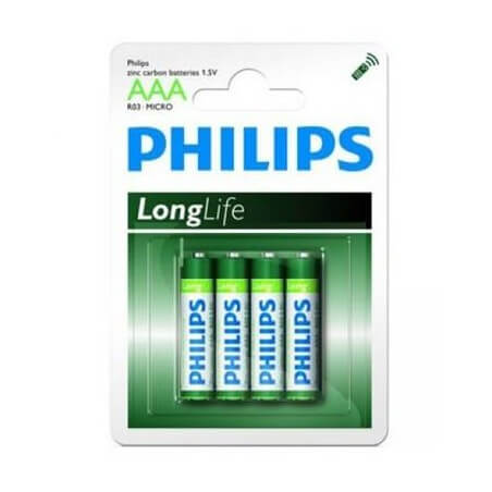 4 Piles AAA R03 PHILIPPS (pour Radios RC)