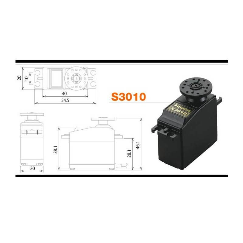 Servo FUTABA 6,5Kg S3010