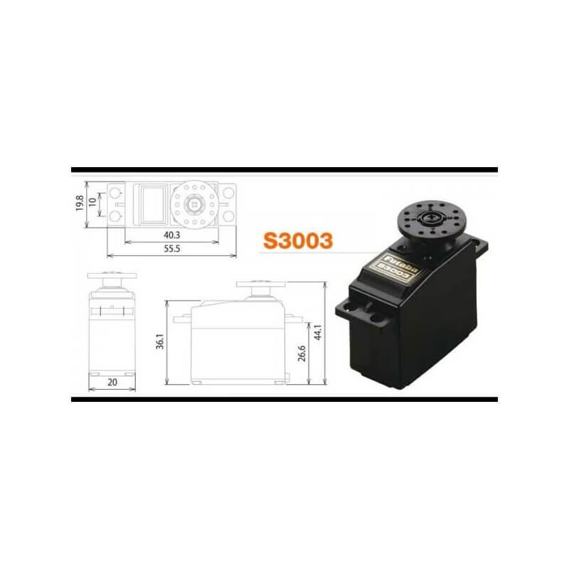Servo FUTABA 4,1Kg S3003
