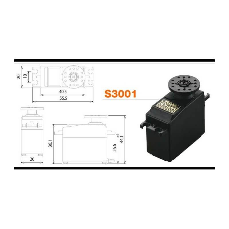 Servo FUTABA 3Kg S3001