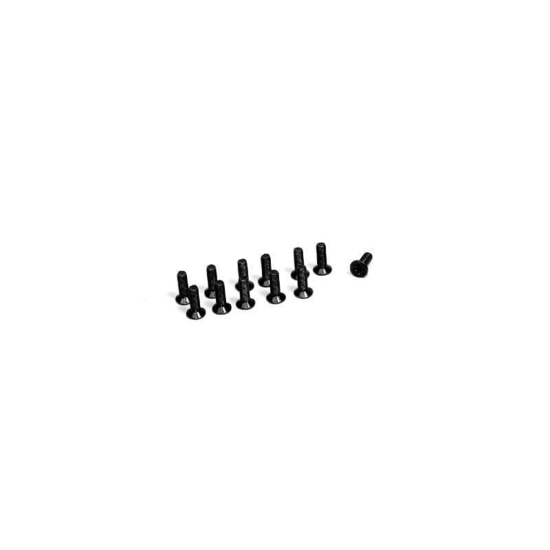 ABSIMA 1230048 - Vis é Tete fraisée cruciforme M3 X10 (x12) Buggy/Truggy
