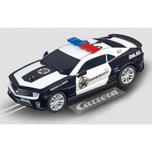 voiture de circuit carrera go chevrolet camaro sheriff. Black Bedroom Furniture Sets. Home Design Ideas