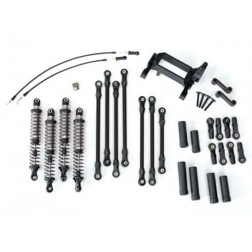 Kit Bras Biellettes Long TRX-4 complet gris - Traxxas TRX8140