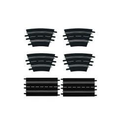 Carrera Kit : droite + courbe 1/30 124/132 (x6 pièces) CA26955