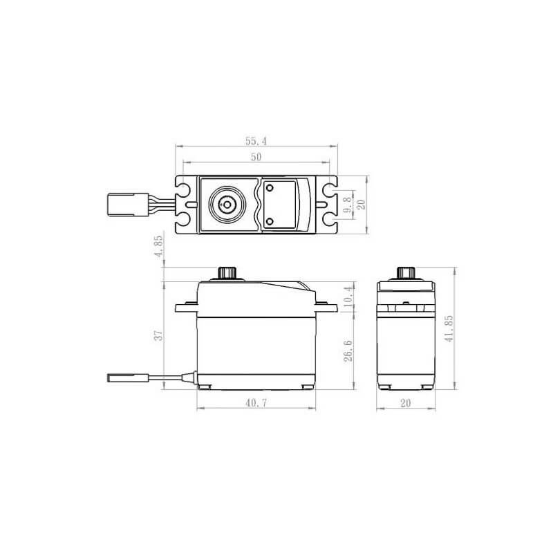 Servo Standard DIGITAL 7.4V 6kg-0.13s SAVOX SV-0320