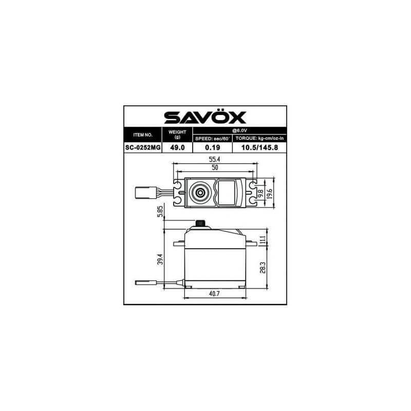 Savox Servo standard SC-0253MG digital 6 kg