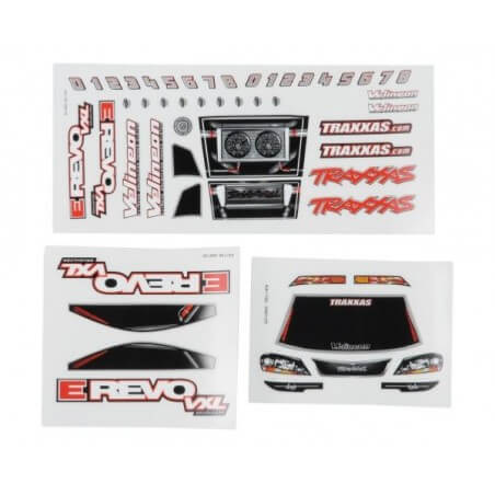 Planche d'autocollants E-REVO 1/16 - Traxxas TRX 7113