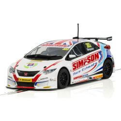 Scalextric C3915 Honda Civic Type R NGTC – BTCC 2017 Matt Simpson