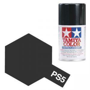 Peinture Lexan PS5 Noir Tamiya 86005