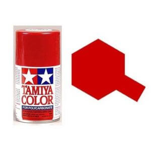 Peinture Lexan PS15 Rouge Metallisé Tamiya 86015