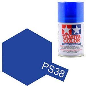 Tamiya peinture PS38 bleu translucide 86038