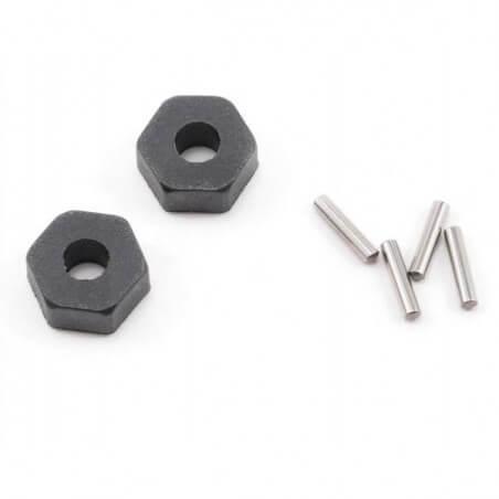 Hexagones de roues + goupilles x2 - Traxxas 1654