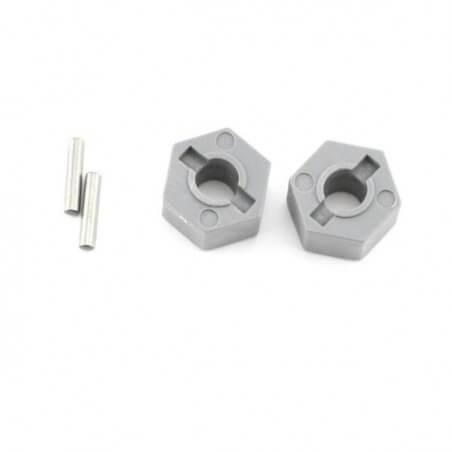 Héxagones de roues + goupilles x2 AV  - Traxxas 3654