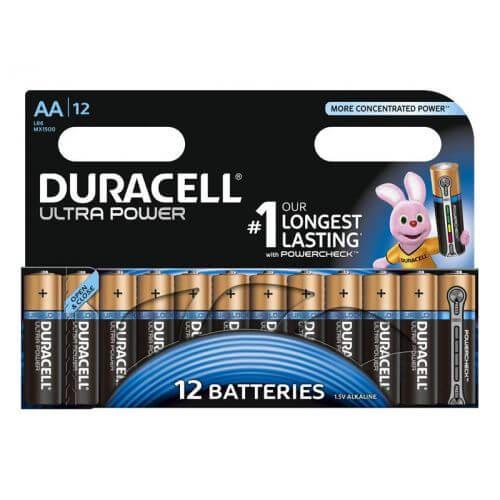 Pack de 12 piles Duracell Ultra Power LR6 Mignon AA