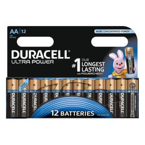 Pack de 12 piles Duracell Ultra Power LR6 Mignon AA