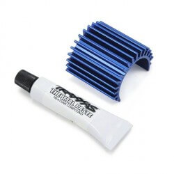 Dissipateur chaleur alu bleu pour moteur brushless velineon 380 - Traxxas 3374
