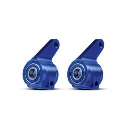 Fusees de direction gauche/droit Alu Bleu - Traxxas 3636A