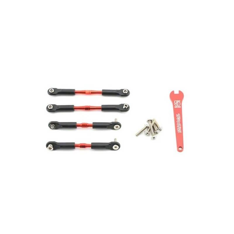Biellettes de carrossage alu rouges av/arr 39/49mm (2) - Traxxas 3741X