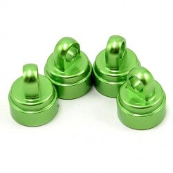 Bouchons d'amortisseurs alu anodise vert (4) - Traxxas 3767G