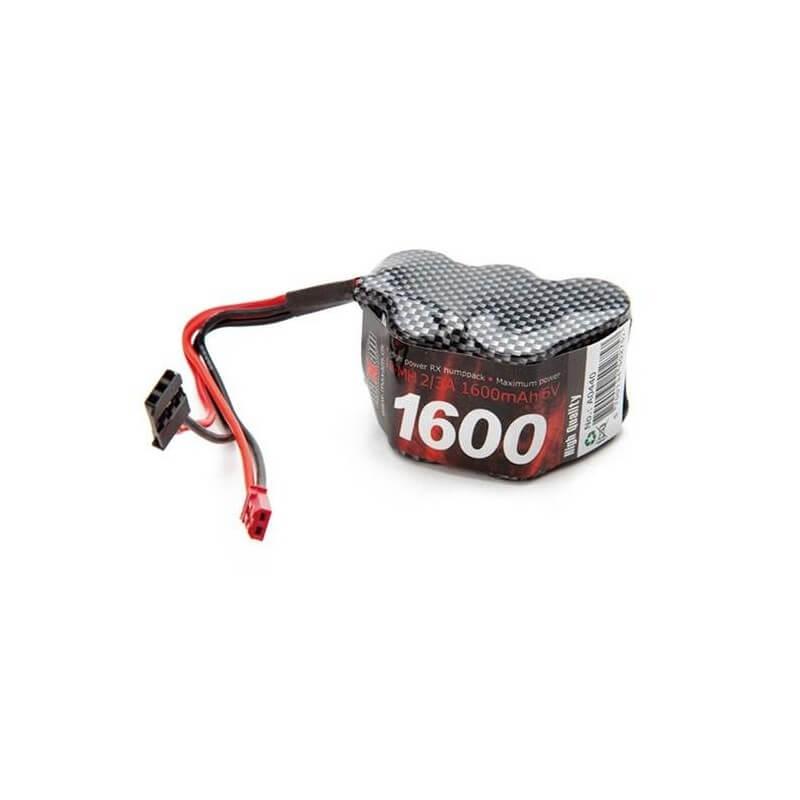 Pack RX 6V Ni-MH 1600mAh  prise JST + JR