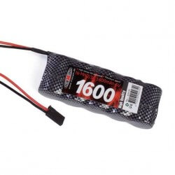 Pack RX 6V 1600mAh  prise FUTABA
