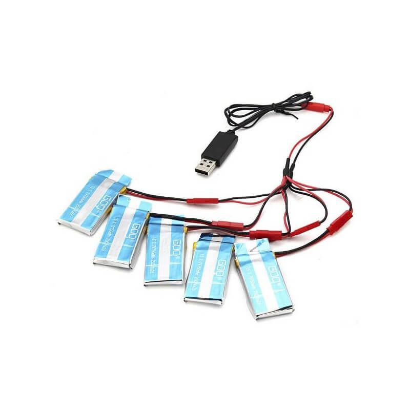 Chargeur Cable USB pour 4 accus JST 1S 3,7V
