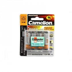 Pack 4 Piles Recharcheable R06 AA Mignon 2500mAH