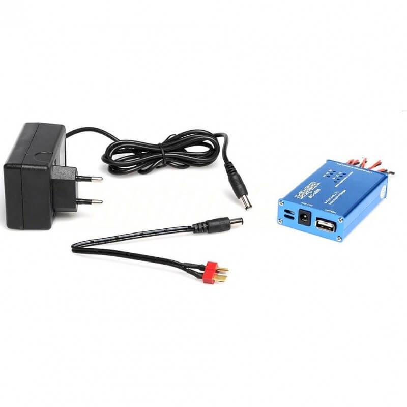Chargeur 6 batteries avec prise secteur 220V (Hubsan, T2M, Syma...)